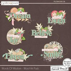 Words Of Wisdom - WordArt :: Valentine's Day :: Seasonal :: Gotta Pixel Digital Scrapbook Store
