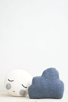 good night cushions // moon & cloud
