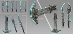 ArtStation - Warframe Fanart Concept - Corpus Dual Swords, Marco Hasmann