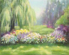 Original landscape acrylic painting 8 x 10 small by susanbranton, $49.00