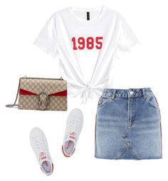 """""""1657"""" by tianabrox ❤ liked on Polyvore featuring Topshop, adidas Originals and Gucci"""