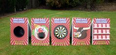 Side Stall Games including:  Ball in a Bucket Feed the Clown Darts Lasso the Bull Higher Lower  Available for hire from Xtreme Vortex: http://www.xtremevortex.co.uk/side-stall-games/