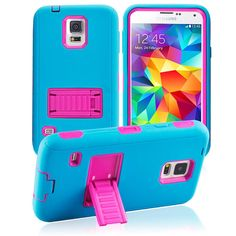 16 best samsung galaxy s5 cases covers images galaxy s5 casesamsung galaxy s5 case, tough rugged hybrid cover with stand (teal pink) cellphonegadgets mobileaccessories www kuteckusa com
