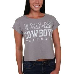 Women s Dallas Cowboys Gray Limerick T-Shirt 7c782a5d2