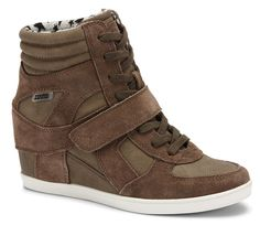 #shoes #wedge #sneaker #taupe