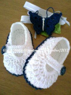 receitas de sapatinhos de trico e croche - Pesquisa Google