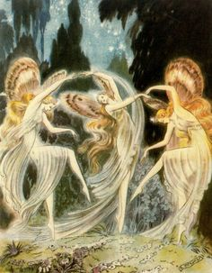 "dance of the fairies painting...Emilio Freixas    ""El sueño de una noche de verano""  (A Midsummer Night's Dream)"