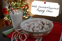 Julie Leah: A life & style blog: Recipe: White Chocolate Peppermint Puppy Chow