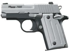 """Sig Sauer P238 is a .380 (9mm short) This gun will fit in the palm of your hand, sometimes refered to as a """"pocket pistol"""" makes for a good CCW."""