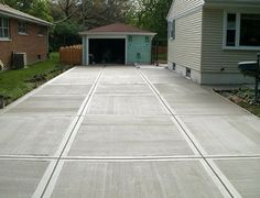There are some different choices of driveway ideas you can take into account. How about Concrete driveway design ideas? Cost Of Concrete Driveway, Concrete Driveways, Walkways, Concrete Finishes, Concrete Floors, Concrete Sealer, Poured Concrete, Backyard Patio, Backyard Landscaping