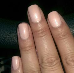 """Gel nail polish. Gelish brand in """"Forever Beauty"""". Pale peach nails."""