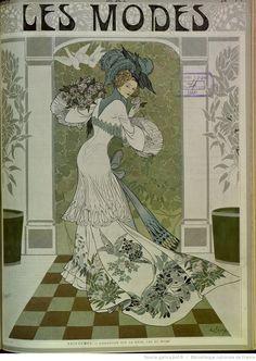 Les Modes : revue mensuelle illustrée des Arts décoratifs appliqués à la femme | 1907-12 | Gallica