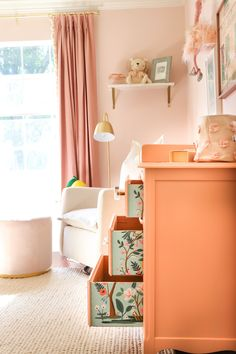 The Sweetest Pink Lemonade Nursery – Project Nursery – Dresser Decor Nursery Dresser, Baby Nursery Decor, Project Nursery, Girl Nursery, Nursery Ideas, Nursery Room, Bedroom Ideas, Baby Room Design, Nursery Design