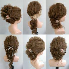 wedding hairstyle 149 Korean Wedding Hair, Hairdo Wedding, Wedding Hairstyles, Bridal Makeup, Bridal Hair, Plaits Hairstyles, Hair Arrange, Hair Art, Gorgeous Hair