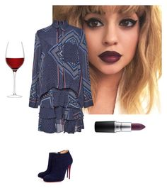 """Derek Lem & red wine"" by blue-jeans-baby ❤ liked on Polyvore featuring Christian Louboutin, 10 Crosby Derek Lam, MAC Cosmetics, LSA International, women's clothing, women's fashion, women, female, woman and misses"