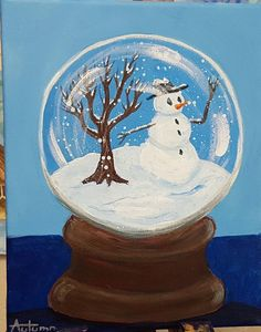 Autumn did an awesome version of the Trapped in a Snow Globe video!