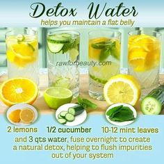 Detox Waters // stay hydrated and healthy by making these ahead and keeping in the fridge #prepday #hydrate #healthy