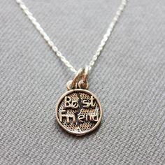 Sterling Silver Bestfriend Necklace  Bestfriend by LibertaFashion, $21.00
