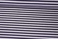 Jersey gestreift - Marine Weiß | Snaply