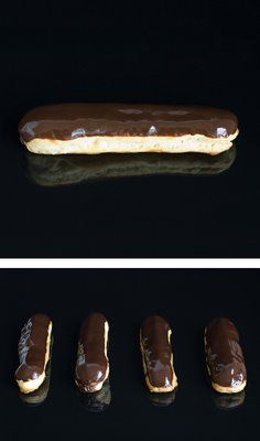I've just finished Pierre Hermé's éclairs for the monthly daring bakers challenge!It was my first DB challenge and I'm over-excited about all this! Eclairs, Think Food, I Love Food, Vintage Tea, Portuguese Recipes, Portuguese Food, Pastry Shop, French Pastries, Hot Dog Buns