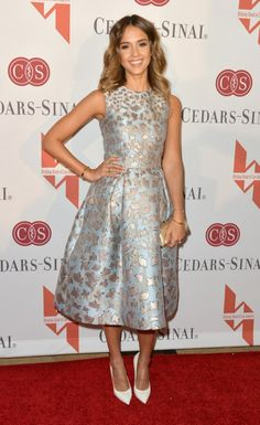 Jessica Alba in Mary Katrantzou at The Helping Hand of Los Angeles Mother's Day Luncheon