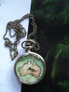 SALE 10  OFF Necklace Pendant New Australia map by Azuraccessories, $9.49
