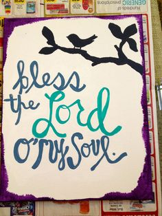 Personalized Bible Verse/ Song Lyric Canvas. $15.00, via Etsy.