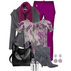 Magenta Trousers, created by lakegirl511 on Polyvore