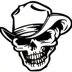 cowboy-skull-car-sticker | Car and Van Sticker, Car decals