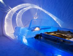Hôtel de glace en Laponie suédoise