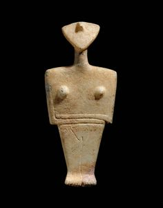 Female figure, Chalandriani type  about 2300–2000 B.C.  Greek Art | Museum of Fine Arts, Boston
