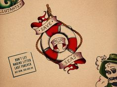 'Save Our Seas' Marine Litter Tattoo Campaign | Surfers Against Sewage