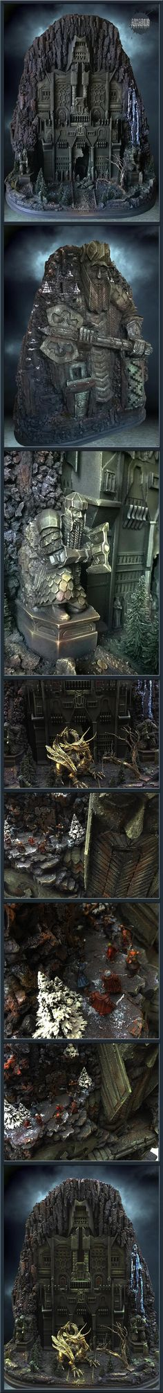 The gate of Erebor - The Lonely Mountain - The Hobbit - Diorama by Arkadius