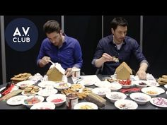 Watch the Property Brothers race to see who can build a better gingerbread house - YouTube