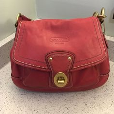 Pink coach purse Gently Used condition Beautiful Authentic pink coach purse. Gently used condition. Coach Bags Shoulder Bags