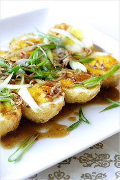 Son-In-Law Eggs - The eggs are first hard-boiled, deep-fried, and then topped with tamarind sauce. | rasamalaysia.com