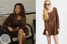 Shop Your Tv: Keeping Up With The Kardashians: Season 8 Episode 1 Kourtney's Brown Plaid Dress