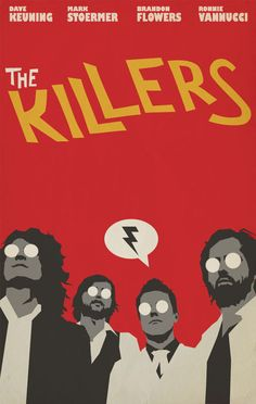 The Killers poster The Killers, Room Posters, Band Posters, Poster S, Poster Wall, The Wombats, Vintage Music Posters, Music Album Covers, Book Covers