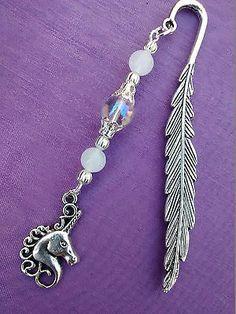Unicorn bookmark charm #angel aura #quartz crystal & #white jade gemstone gift ba,  View more on the LINK: http://www.zeppy.io/product/gb/2/131547393771/