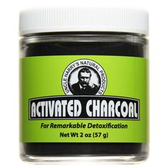 Activated Charcoal (2 oz glass jar)