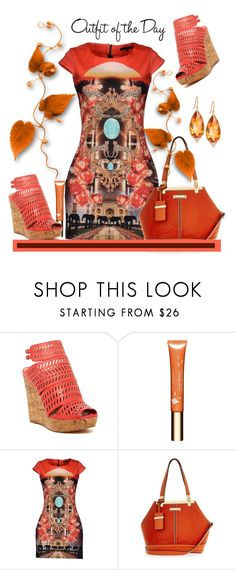 """""""Outfit of the Day"""" by helenaymangual ❤ liked on Polyvore featuring Charles by Charles David, Clarins, Philipp Plein, River Island, Jamie Wolf and Petit Bateau"""