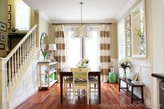 A Thoughtful Place: DIY Horizontal Striped Curtains