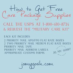 How to get FREE care package supplies. I just checked it-- it really works! How to get FREE care package supplies. I just checked . Military Deployment, Army Mom, Army Life, Military Spouse, Deployment Party, National Guard Deployment, Deployment Quotes, Military Letters, Military Relationships