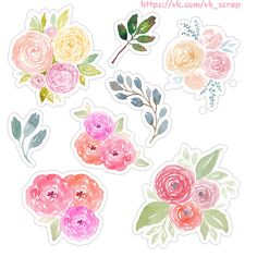 Высечки с цветами и веночки