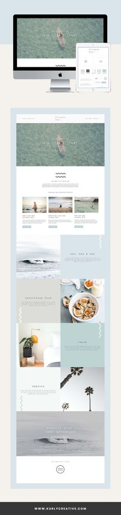 Branding & Squarespace Web Design from Kurly Creative Squarespace Website Design Minimal Web Design, Small Business Web Design, Modern Web Design, Graphic Design, Website Design Inspiration, Web Design Blog, Website Design Layout, Layout Inspiration, App Design
