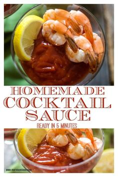 Enjoy homemade cocktail sauce is just 4 ingredients and takes about 5 minutes to prepare. Delicious with poached shrimp. dips, baked fish, or try adding to your burgers. #cocktailsauce #shrimpsauce #healthysauce #everydayeileen #easysauce     via @everydayeileen