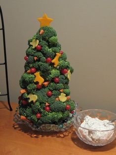 Broccoli Christmas Tree Appetizer