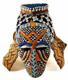 Africa | Ngady aMwaash mask of the Kuba. Democratic Republic Congo. c. 1900