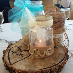 country wedding center pieces  pinterest.com/... #hamptoninnmonroeville  www.facebook.com/... #pittsburghhotel