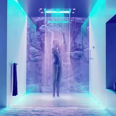 MoD Design Guru - Thinking-Outside-the-Box Design: Sensory + Innovation: Dornbracht Sky shower system Chromotherapy, Shower Fixtures, Luxury Shower, Water Collection, Lumiere Led, Shower Systems, Dream Bathrooms, Luxurious Bathrooms, Modern Bathroom